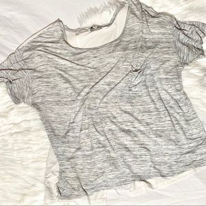 Heather Grey OpenBack Tee Shirt from AmericanEagle